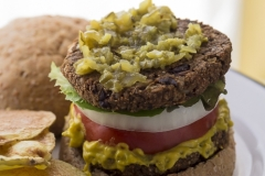 BUCKWHEAT GROATS and BLACK BEAN BURGER