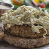 MOCK CRAB CAKE with SLAW