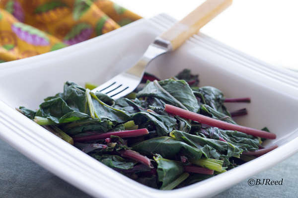 Beet Greens in Peanut Sauce