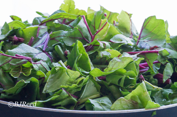 Steam Beet Greens