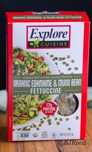 Edamame and Mung Bean Fettuccine