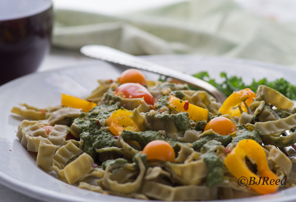 fettuccine with pesto