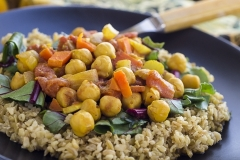 AFRICIAN STYLE CHICK PEAS with FREEKEH
